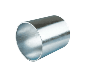 "300S25P Jason Industrial Plated Steel Cam and Groove Crimp Sleeve - 2-1/2"" Hose Size - 3"" Sleeve ID"