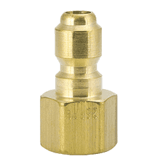 "12FPB ZSi-Foster Quick Disconnect FST Series Plug - Straight Thru - 1/8"" FPT - Brass"