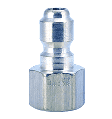 "25FP ZSi-Foster Quick Disconnect FST Series Plug - Straight Thru - 1/4"" FPT - Steel"