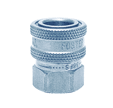 "38FSS-101 ZSi-Foster Quick Disconnect FST Series Socket - Straight Thru - 3/8"" FPT - 303 Stainless, w/Viton Seal"