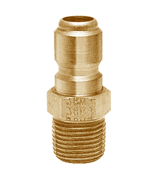 "25MPB ZSi-Foster Quick Disconnect FST Series Plug - Straight Thru - 1/4"" MPT - Brass"