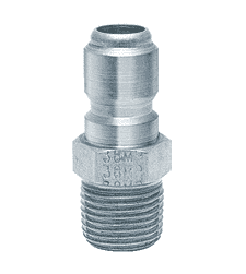 "12MPS ZSi-Foster Quick Disconnect FST Series Plug - Straight Thru - 1/8"" MPT - 303 Stainless"