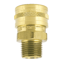 "25MS-101 ZSi-Foster Quick Disconnect FST Series Socket - Straight Thru - 1/4"" MPT - Brass, w/Viton Seal"