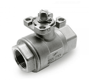 "134G41 RuB Inc. Full Port Stainless Steel Actuatable Ball Valve - 1-1/4"" Female NPT x 1-1/4"" Female NPT"