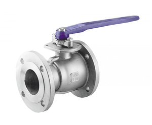 "135NF0 RuB Inc. Regular Port Stainless Steel Ball Valve - 4"" Flange End x 4"" Flange End - Manual/Actuatable"