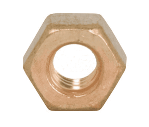"13BN Dixon Sanitary Brass Bronze Hex Nut: 3/8""-16 for Bolted Clamps"