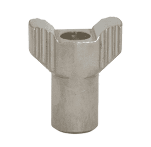 "13WNS Dixon Sanitary 304 Stainless Steel Serrated Wing Nut: 5/16""-18"