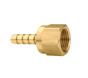 "144-0306 Dixon Brass Female 45 Deg. SAE Swivel x Hose Barb - 3/16"" Hose ID - 3/8""-24 UNF Thread"