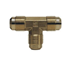 "144F-4 Dixon Brass SAE 45 deg. Flare Fitting - Union Tee - 1/4"" Tube Size x 7/16""-20 Straight Thread"