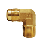 "149F-4-6 Dixon Brass SAE 45 deg. Flare Fitting - Male Elbow - 1/4"" Tube Size x 3/8"" Pipe Size"