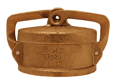 "150DC-LBR Dixon 1-1/2"" Brass Lockable Dust Cap"