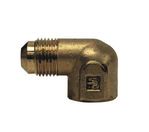 "150F-6-8 Dixon Brass SAE 45 deg. Flare Fitting - Female Elbow - 3/8"" Tube Size x 1/2"" Pipe Size"