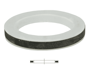300GTFEP Dixon PTFE Envelope Cam and Groove Gasket - PTFE with Ethylene Propylene Filler - 3""