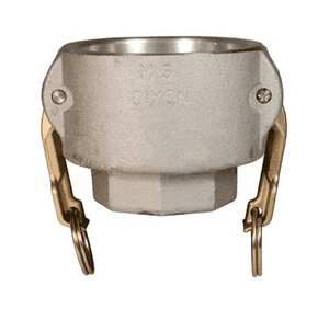 "1510-D-AL Dixon 1-1/2"" x 1"" 356T6 Aluminum Type D Reducing Female Coupler x Female NPT"