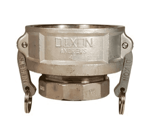 "1510-D-SS Dixon 1-1/2"" x 1"" 316 Stainless Steel Type D Reducing Female Coupler x Female NPT"