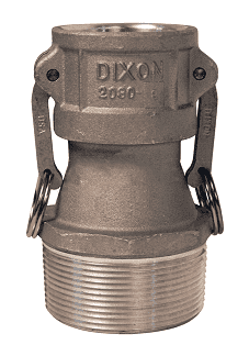 "2030-B-AL Dixon 2"" x 3"" 356T6 Aluminum Type B Reducing Female Coupler x Male NPT"