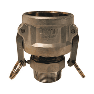 "2015-B-SS Dixon 2"" x 1-1/2"" 316 Stainless Steel Type B Reducing Female Coupler x Male NPT"
