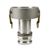 "4025-DA-AL Dixon Valve 4"" x 2-1/2"" 356T6 Aluminum Reducing Cam and Groove Coupler x Adapter"