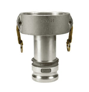 "1510DAAL Dixon Valve 1-1/2"" x 1"" 356T6 Aluminum Reducing Cam and Groove Coupler x Adapter"