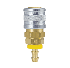 "1713W ZSi-Foster Quick Disconnect 1-Way Manual Socket - 3/8"" ID - For Water, Brass/SS, Buna-N Seal - Push-On Hose Stem"