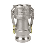 "1520-DA-SS Dixon 1-1/2"" x 2"" 316 Stainless Steel Reducing Cam and Groove Coupler x Adapter"