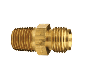 "156-0906 Dixon Brass Oxy-Acetylene Right-Hand Adapter - 9/16""-18 Right UNF Thread x 3/8"" NPTF Thread - 11/16"" Hex"