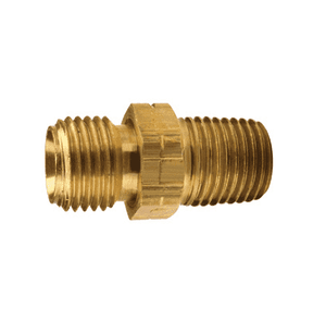 "158-0906 Dixon Brass Oxy-Acetylene Left-Hand Adapter - 9/16""-18 Left UNF Thread x 3/8"" NPTF Thread - 11/16"" Hex"