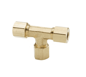"164C-06-06-04 Dixon Brass Compression Fitting - Union Tee - 3/8"" Tube Size (1 and 2) x 1/4"" Tubing Size (3)"