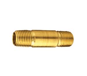 "166-0435 Dixon Brass 1/4"" NPT Long Pipe Nipple - 3-1/2"" Length"