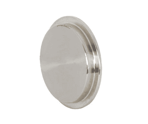 "16AI-14I400 Dixon 304 Stainless Steel Sanitary Male I-line Solid End Cap - 4"" Tube OD"