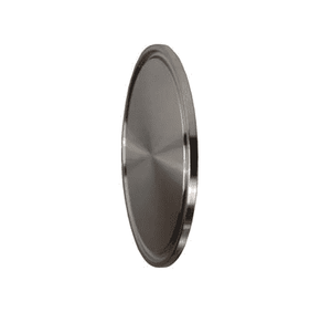 "16AMP-G600 Dixon 304 Stainless Steel Solid Sanitary End Cap - 6"" Tube OD"