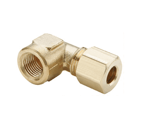 "170C-0404 Dixon Brass Compression Fitting - Female Elbow - 1/4"" Tube Size x 1/4"" Pipe Thread"