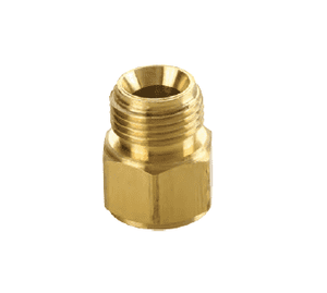 "174-0606 Dixon Brass Threaded Adapter - Female NPTF 3/8"" x Male NPSM 3/8"""