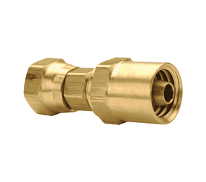 "185-6124 Dixon Brass Reusable Female Swivel Fitting - 3/8"" Hose ID x 1/4"" NPSM Thread x 3/4"" Hose OD"