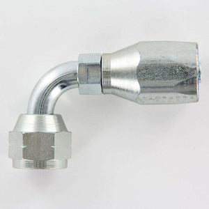 190302-12S SAE 45 Deg. Swivel 90 Degree Fitting 100R5 Reusable