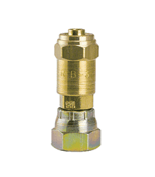 "1C7-S ZSi-Foster Reusable Hose Fitting - Female Swivel w/Nut - 5/16"" ID x 5/8"" OD - Swivel - Brass/Steel"