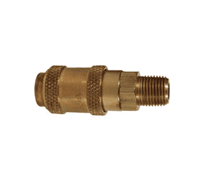 "2AM1-B Dixon Brass A-Series Quick Disconnect 1/4"" Astronautics High Pressure Pneumatic Coupler - 1/8""-27 Male NPTF"