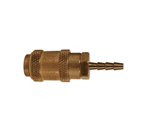 "1AS1-B Dixon Brass A-Series Quick Disconnect 1/8"" Astronautics High Pressure Pneumatic Coupler - Hose Barb - 1/8"" Hose ID"