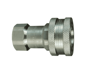 "3HBF3-SS Dixon 316 Stainless Steel H-Series Quick Disconnect 3/8"" ISO-B Interchange Hydraulic Coupler - 3/8""-19 Female BSPP"