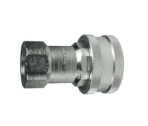 "6HF6 Dixon Steel H-Series Quick Disconnect 3/4"" ISO-B Interchange Hydraulic Coupler - 3/4""-14 Female NPTF"