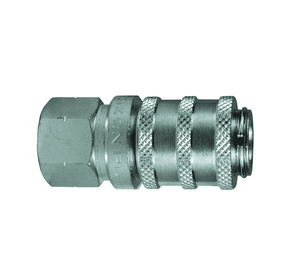 "1PDF2 Dixon Steel PD-Series Quick Disconnect 1/8"" ISO15171-1 Diagnostic Hydraulic Coupler - 1/4""-18 Female NPT"