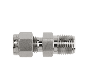 "6-DMC-6 Dixon Instrumentation Fitting - Stainless Steel Male Connector - 3/8"" Tube OD x 3/8""-18 Male NPT (Pack of 10)"