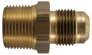 2000-2-6B External Pipe x 45 Degree Flare - Brass