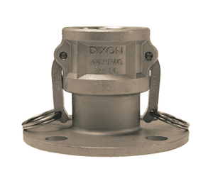"150-DL-SS Dixon 1-1/2"" 316 Stainless Steel Coupler x 150# Flange"