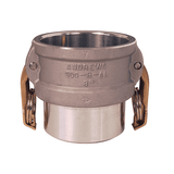 "150DWBPSTAL Dixon 1-1/2"" 356T6 Aluminum Coupler for Welding - Butt Weld to Schedule 40 Pipe / Socket Weld to Nominal OD Tubing - 1.515 Bore"