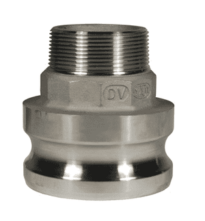 "2015-F-SS Dixon 2"" x 1-1/2"" 316 Stainless Steel Type F Reducing Male Adapter x Male NPT"