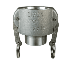 "2015-B-AL Dixon 2"" x 1-1/2"" 356T6 Aluminum Type B Reducing Female Coupler x Male NPT"
