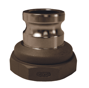 "3020-A-SS Dixon 3"" x 2"" 316 Stainless Steel Type A Reducing Male Adapter x Female NPT"
