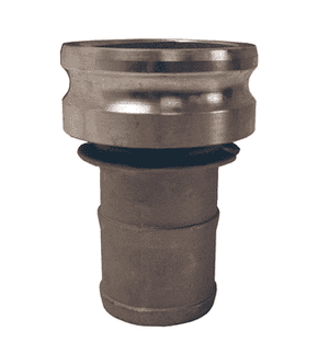 "3025-E-SS Dixon 3"" x 2-1/2"" 316 Stainless Steel Type E Reducing Male Adapter x Hose Shank"
