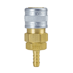 "2022W ZSi-Foster Quick Disconnect Socket - 1/8"" ID - For Water, Brass/SS, Buna-N Seal (Hose Stem)"